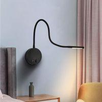 LED-Buchlampe Leselicht flexible Wandmontage USB-Ladegerät Bettuntersuchungsbett Schlafzimmer Wohnzimmer Zauberarm mit Schalter