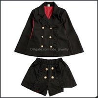 Sets Baby, & Maternityspring Autumn Girls 2 Pcs Set Baby Cape + Shorts Kids Brand Suit Children Clothes Fashion Sleeveless Double Breasted 3