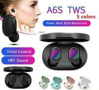 A6S TWS earphones Headphone Bluetooth 5.0 True Wireless Headset with Mic for iPhone Xiaomi Huawei Samsung Smart Phones