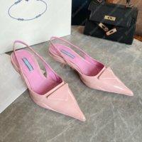 2021dress Ayakkabı Kadınlar Pompaları Üçgen Orta Topuk Slingback Sandalet Tasarımcılar Ayakkabı Yüksek Topuklu Sandales Espadrilles