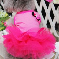 Dog Apparel Summer Dress For Small Dogs Pet Clothes Princess Wedding Skirt Luxury Dresses Soft Lace 259qe