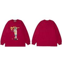 HIP HOP SweatShirt Men Streetwear Girl Japonaise Print Pull 2021 Automne Harajuku Coton Coton Casual Sweat à capuche