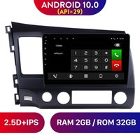 10.1 inç Android 10.0 Araba DVD GPS Navigasyon Radyo Multimedya Oyuncu 2007 2007 2008 2009 2010 2011 Honda Civic