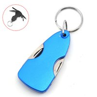4 In 1 Multi-function Family Outdoor Gadget Knife Screwdriver Bottle Opener Convenient and Practical Backpack with Light Key Chain Pendant EDC Tool HW505