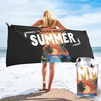 Toalla de secado rápido Playa de verano Puesta de sol en forma de piña Microfibra Microfibra Camping Senderismo Cara de mano Kits de viaje al aire libre