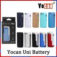 YoCan Uni Box Mod Kits 650mAh 두꺼운 오일 카트리지 용 자기 510 어댑터가있는 VV 가변 전압 배터리