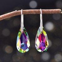 Dangle & Chandelier Outstanding Women's Fashion Accessories Drop Earrings Romantic Shiny Luxury Crystal Teardrop Trendy Jewelry Gift