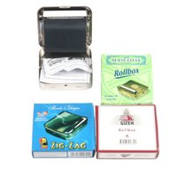 3 colors 70mm rollbox Metal Cigarette Rolling Machine bag Smoke Accessories Joint Roller Cigarettes Rollers With Paper Holder Smoking Papers Clip