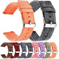 Reloj Bands Nylon Band para Samsung Gear S2 S3 Galaxy 46mm 42mm Active1 2 Universal Woven Sport 18mm 20mm 22mm 24mm Todos Tamaño