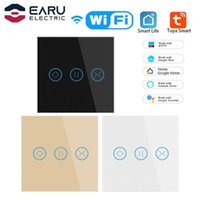 Smart Home Control EU 240V 10A WiFi Touch Curtain Roller Blinds Motor Switch Tuya Life App Remote Works With Alexa Google
