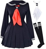 Giyim Setleri Japon Okul Üniforması Kızlar Sınıf Donanma Denizci Üniformaları Hell Girl Enma AI Anime Cosplay Çorap Ile Cosplay Suit