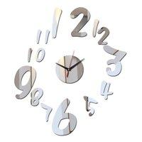 Wall Clocks Quartz Living Room Modern Watch Clock Vintage Horloge Murale Duvar Saati Diy Acrylic Mirror