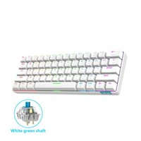 لوحة المفاتيح الميكانيكية 61KEYS لوحة مفاتيح الألعاب blutooth 5.0 type-c للكمبيوتر اللوحي سطح المكتب ملصقا الروسية