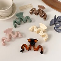 New Hyperbole Candy Colors Wave Shape Hair Claws Women Girls Sweet Hair Clips Ponytail Holder Hairpins Fashion Hair Accessories