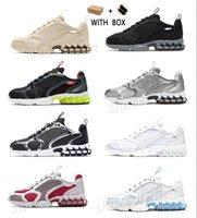 2021 Spiridon Kafesli Erkek Kadın Koşu Ayakkabıları Metalik Beyaz Saf Gümüş Varsity Takımı Kırmızı Newsprint Kraliyet Tasarımcısı Eğitmenler Açık Spor Sneakers