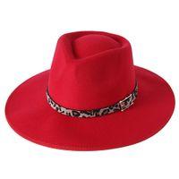 2022 New Hemming Design British Fedora Hat Winter Felt Hats for Women Fashion Wide Brim Wool Wedding Jazz Hats