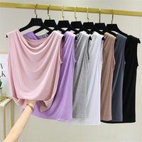 Colors Solid Cotton Shirts Candy Sleeveless Top Lady Loose Summer Shirt Womens Blouses Plus Size M-6XL 7XL 8XL Women's &