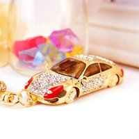 Keychains 2021 Fashion Gold Color Lobster Clasp Keyring Crystal 3D Car Charms For Women Bag Pendants Key Chain Jewelry