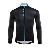 Pro Takım Dev Bisiklet Uzun Kollu Jersey Erkek MTB Bisiklet Gömlek Sonbahar Nefes Hızlı Kuru Yarış Tops Yol Bisiklet Giyim Açık Spor Y21042206