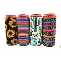17 * 8.5 см CAN COOLER SLIM CANS CONSULATERS NEOPRENE BATHER BETHORE Охладитель для пива Складная Кола Бутылка Бутылка Koozies Кактус Leopard Может Рукав Dak107