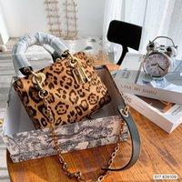Top Luxo Senhoras Bolsa Designer Original Bag Ombro Messenger Leopard Imprimir Saco Fábrica Produção de Produção Preço Descontos Rápido Transporte rápido