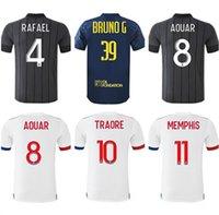20 21 Männer Maillot de Foot Lyon Soccer Jerseys Auar Cherki Dembélé TOUSART Reine-Adelaide Corneet 2021 Football Hemd TRAORE MEMPHIS JERSEY