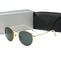 رجل مصمم نظارات شمسية إمرأة نظارات شمسية UV400 معدن إطار الذهب النظارات 3447 Occhiali دا الوحيد Firmati des Lunettes de soleil الفاخرة جودة عالية 8 ألوان مع مربع