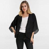 Beach Kimono Cardigan 2021 Summer ZANZEA Women Chiffon Blouses Shirts Bohemian Cape Beachwear Casual Loose Blusas Tops Plus Size Women's &