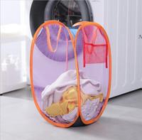 Wäschekorb Hamper Mesh Tragbare Faltbare Kleidung Hampfer Kinderzimmer College Dorm Travel Home Organisation Körbe HHB8424