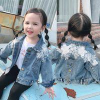 Jackets Jean Girls Baby's Coat Jacket Outwear 2021 High Quality Spring Summer Hooded Windbreaker Zipper Cardigan Children's Clothing