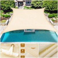 Tents And Shelters DH Awning Waterproof Shade Sail Outdoor Rectangular Garden Terrace Swimming Pool Beach Carport