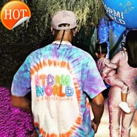 2020ss Astroworld Travis Scott Cactus Jack Stormi 2 Party Tie Dye 1:1 High Quality Men Women T-shirts