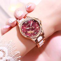 Reloj de lujo Moda de lujo Relojes automáticos Movimiento mecánico Cerámica Banda de acero inoxidable Casual Relojes de pulsera para mujeres