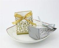 10 stücke Wrap Kreative Golden Silber Band Hochzeit Favoriten Party Geschenk Candy Paper Box Cookie Taschen Ereignis Lieferungen 651 R2