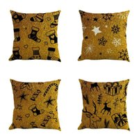Cushion Decorative Pillow Cushion Cover Home Sofa Decor Christmas Decorative Pillows Cotton Linen Throw Case Housse De Coussin