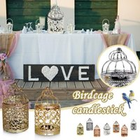 Candle Holders 1pc Creative Candelabros Hollow Hanging Bird Cage Holder Candlestick Lantern Bridal Decor Vintage Candlesticks Home