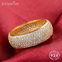 Jellystory Frauen 925 Sterling Silber Ring Einfache Klassische Rundkreis Retro Schmuck für Mode Großhandel Cluster Ringe