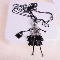 The Korean Sweater Chain Crystal Piece Girl Long Necklace Female Fashion Wild Ornaments Pendant Necklaces