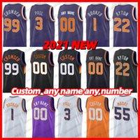 Erkek Basketbol Forması Şehri Kazanılan Sürüm Deandre Ayton 22 Chris Paul 3 Devin Booker 1 Mikal Köprüleri 25 Siyah Turuncu Mor Cameron Johnson 23 Formalar