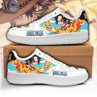 DIY Anime Fan Sneakers Ace Sneakers Custom One Piece Anime Shoes Fan Men's Sneakers Lightweight Running Shoes Casual Knit Breathable Comfort Walking