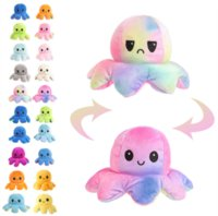 us stock 24 hours ship!Baby Kids Gift Doll Reversible Flip Octopus Stuffed Dolls Soft Plush Toys Party Favor New Year Christmas Gifts