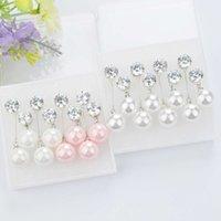 Pendientes YouMo Zircon Long Pink Pearl Pearl Simple