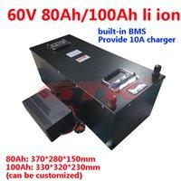 GTK Marka Yüksek Kalite Lityum Pil 60 V 100AH 80Ah Li-Ion Pil Paketi Ile BMS ile 6000 W Forklift AGV UPS EV + 10A Şarj