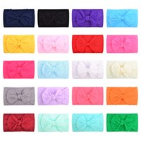 Baby Bow Hair Bands 20 Colors Solid Elastic Headbands Infant Soft Cute Hairband Kids Headwear Toddler Girls Hair Bands 06210226