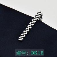 Clips de corbata de plata 24 colores 4 * 0.5cm Clip de negocio de hombres Clip de metal clip para corbatas Padre Corbata Clip Regalo de Navidad 3705 Q2