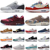 air max 1 airmax 87 1s الرجال احذية الجري 1 أمستردام حمض قزحي الألوان غسل ولدت CNY الذكرى 87 رجال نساء أحذية رياضية 36-45