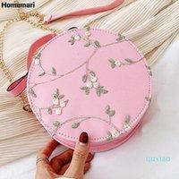 Abendtaschen Homemari Süße Frauen Kette Handtasche Umhängetasche Kleine Spitze Runde Blume Stickerei Chinesischen Stil Frauen Messenger Bag2021