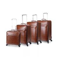 Valigie Serie retrò bagagli 16/20/22/24 pollici Classic PU rotolamento spinner Brand Travel valigia universale ruota carrello