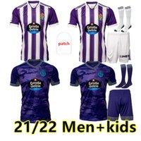 2021 2022 Real Valladolid Soccer Jersey Accueil Tyreee Fede S. R. Alcaraz Sergi Guardiola Óscar Plano Camisetas de Fútbol Hommes + Chemises de football pour enfants