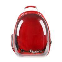 Transpirable transparente mascota gato cachorro viaje espacio mochila portador bolso portador, cajas casas